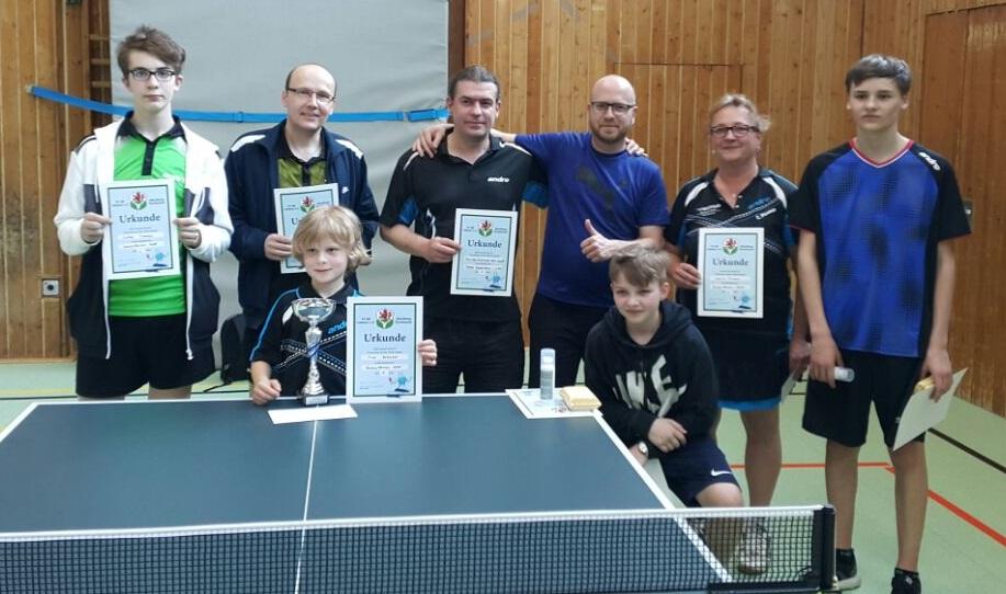 Bundesoffenes Tischtennis-Turnier des TV 08 Lohmar gut organisiert