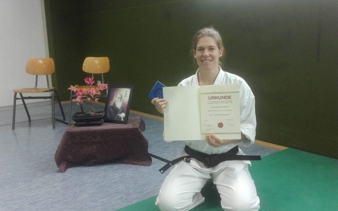 1.Dan Aikido für Frau Dr. Claudia Zieroff