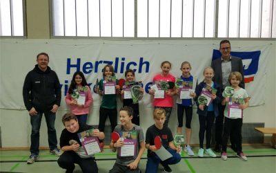 TV 08 Lohmar ermittelt die Tischtennis-Mini-Meister 2019