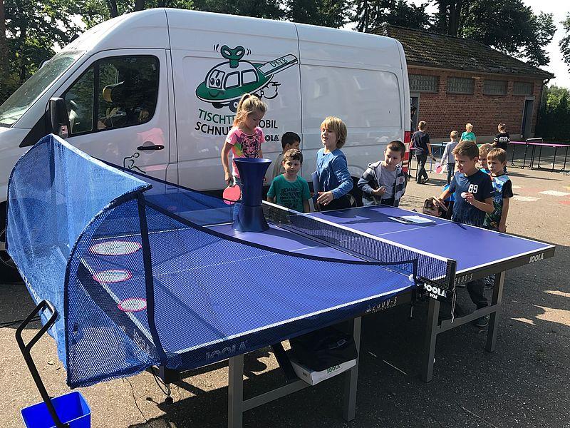 Tischtennis-Schnuppermobil zu Gast in Lohmar